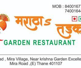 Maratha's Tadka Garden Restaurant Miraroad